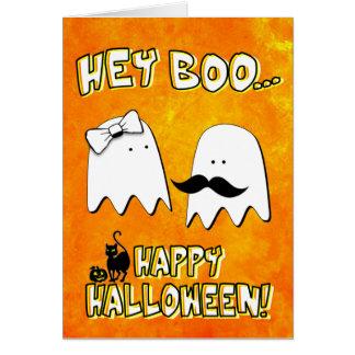 He Boo-Halloween-Karte Grußkarte