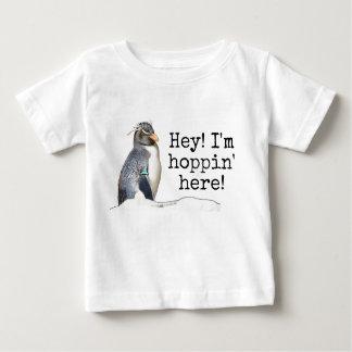 He! Ich bin Hoppin hier! Rockhopper Penguin-Shirt Baby T-shirt