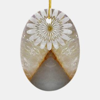 HealingSTONE KristallVintage Ovales Keramik Ornament