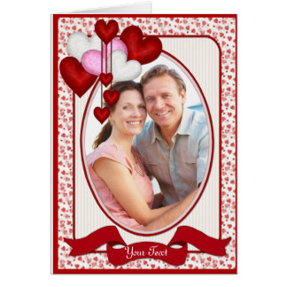 Heart Decor Photo Grußkarte