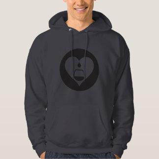 Hearts2Tails schwarzer grafischer LogoHoodie Hoodie