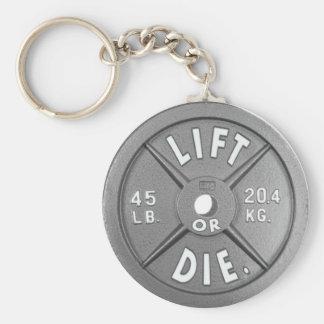 """Heben Sie an oder die 45 lbs-Platte auf 2,25"""" Schlüsselanhänger"""