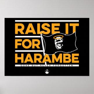 Heben Sie es für Harambe an Poster