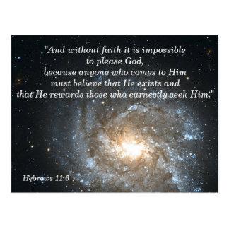 Hebräer-11:6 christliche Scripture-codierte Karte