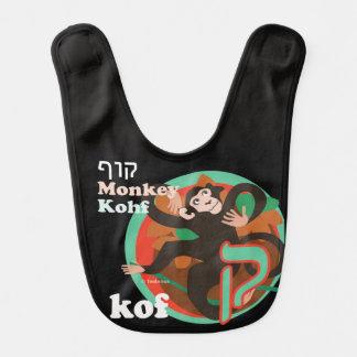 Hebräisches Alphabet-Baby Schellfisch-Kof Lätzchen