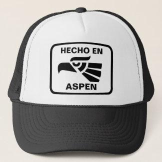 Hecho en Aspen personalizado Gewohnheit Truckerkappe