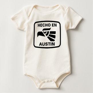 Hecho en Austin personalizado Gewohnheit Baby Strampler