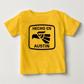 Hecho en Austin personalizado Gewohnheit Baby T-shirt