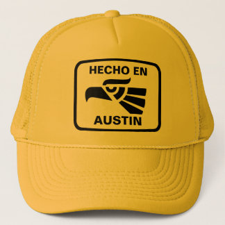 Hecho en Austin personalizado Gewohnheit Truckerkappe