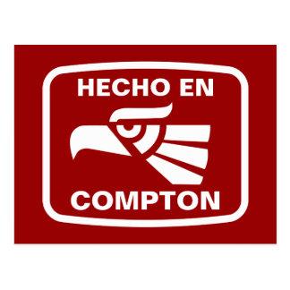 Hecho en Compton personalizado Gewohnheit Postkarte