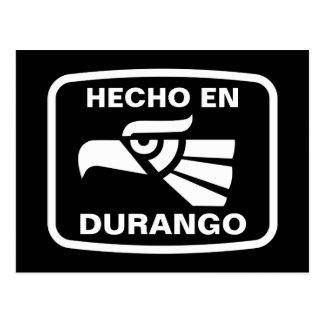Hecho en Durango personalizado Gewohnheit Postkarte