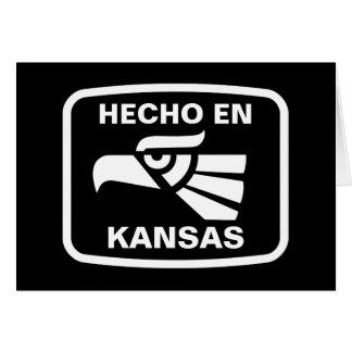 Hecho en Kansas personalizado Gewohnheit Karte