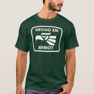 Hecho en Minot personalizado Gewohnheit T-Shirt