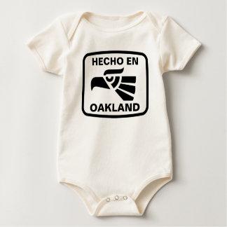 Hecho en Oakland personalizado Gewohnheit Baby Strampler