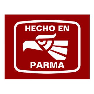 Hecho en Parma personalizado Gewohnheit Postkarte