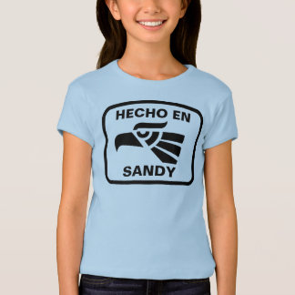 Hecho en Sandy personalizado Gewohnheit T-Shirt