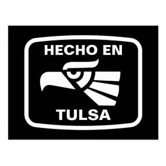 Hecho en Tulsa personalizado Gewohnheit Postkarte
