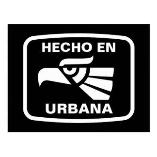 Hecho en Urbana personalizado Gewohnheit Postkarte