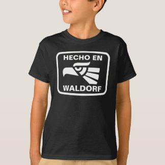 Hecho en Waldorf personalizado Gewohnheit T-Shirt
