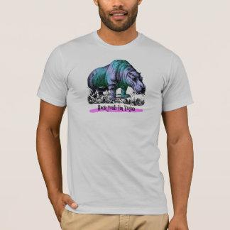 Heck Yeah bin ich veganer Flusspferd-T - Shirt