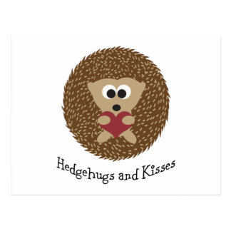 Hedgehugs und Kuss-Igel Postkarte