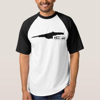 HEDWAY Stationsschwarz-Baseballt-stück T-shirt