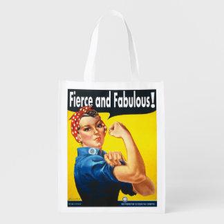 Heftig und fabelhaft können wir es tun Rosie der Wiederverwendbare Einkaufstasche