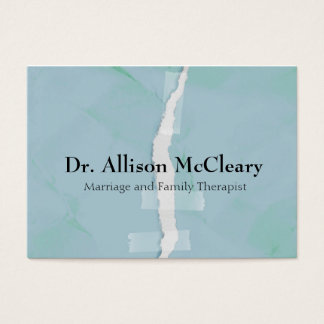 Heftige Papierfamilienpsychologietherapie Visitenkarte