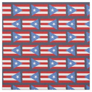 Heftige Ränder: Puerto- Ricoflagge Stoff