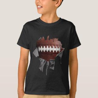 Heftiger Fußball (Zahl- u. Namenan Rückseite) T-Shirt