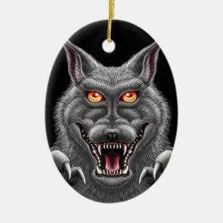 Heftiger Werewolf Keramik Ornament