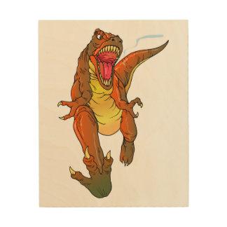Heftiges T-Rex Holzwanddeko