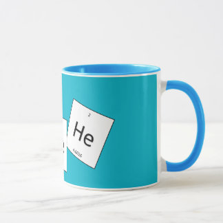 Hehehe Helium-Lachgas-Element-Wortspiel-Schale Tasse