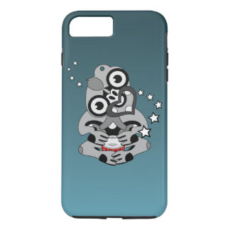 Hei Tiki Neuseeland Maori- Entwurf Trommel iPhone 8 Plus/7 Plus Hülle
