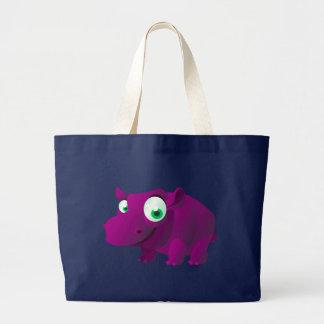Heide der Hippopotamus Jumbo Stoffbeutel