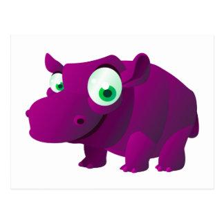 Heide der Hippopotamus Postkarte