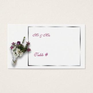 Heide und Spitze-wedding Tischnummer Visitenkarte
