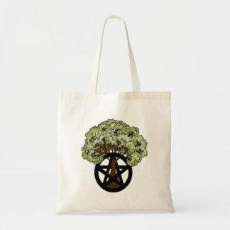 Heidnischer Pentagramm-Sommer-Baum Tragetasche