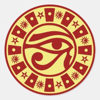 Heidnisches altes ägyptisches Auge Horus Runder Aufkleber
