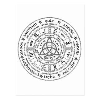 Heidnisches Rad des Jahres Postkarte