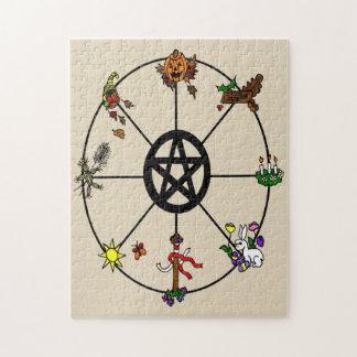 Heidnisches Wicca Rad des Jahres