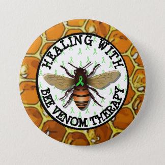 Heilen mit Bienen-Gift-Therapie Lyme Band-Knopf