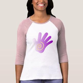 Heilende Hand - lila T-shirts