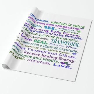 heilende Wörter Geschenkpapier