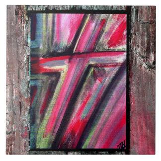 Heilendes Kreuz Große Quadratische Fliese