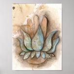 heilendes Plakat des Yoga Hand