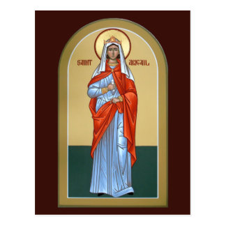 Heilig-Abigail-Gebets-Karte Postkarte