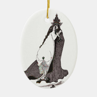 Heilig-Rose von Lima steigt auf Himmel auf Ovales Keramik Ornament