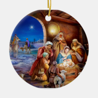 Heilige Familie Keramik Ornament