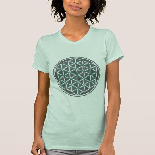 Heilige Geometrie: Blume des Lebens - optischer T-Shirt